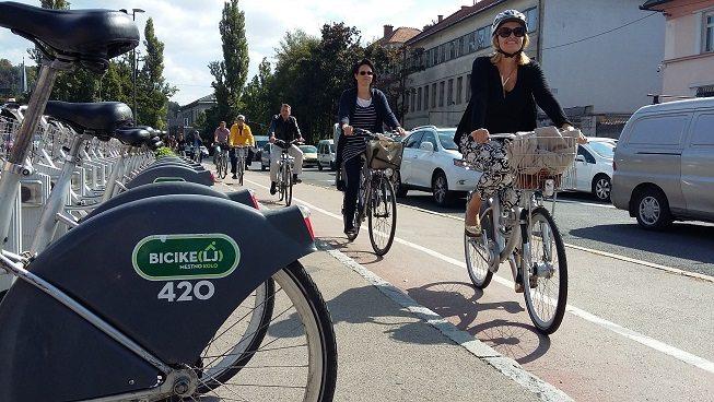 Европейская неделя мобильности в Любляне, столице Словении