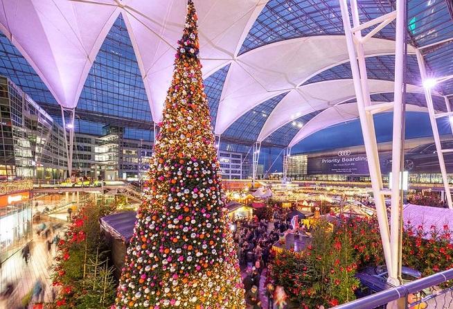 Рождественский и зимний базар в аэропорту Мюнхена отмечает большой юбилей