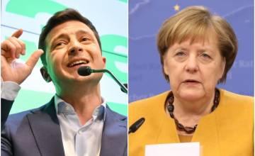 Меркель обещает поддержку Украине после победы комика Зеленского